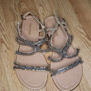 Maurices Gold beaded sandals
